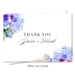 French Hydrangea Wedding Thank you Notes (purple) by ForeverFiances Weddings