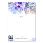 Purple Hydrangea Table Cards | French Hydrangea on premium white recycled paper