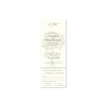 French Wedding invitations ~ Olive Tree (100% recycled paper)