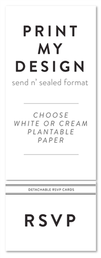 Custom Send n Seal Wedding Invitations | Your Design