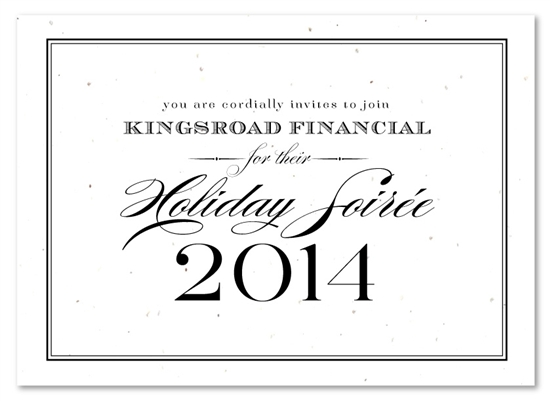 Holiday Party Invitations on plantable paper Formal Financial by – Formal Business Invitation