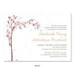 Spring Wedding Invitation with cherry blossoms branches | Golden Blooms