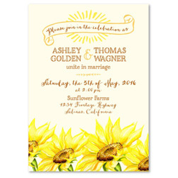 Sunflower Wedding Invitations | Gorgeous Sunflower