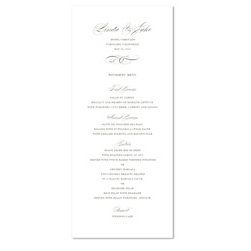 Sophisticated Wedding Menus | Graceful Chic