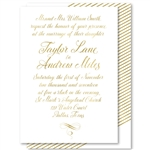 Gold Script Wedding Invitations Graceful calligraphy with gold accents