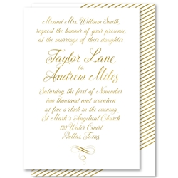 Script Wedding Invitations Graceful calligraphy with gold accents