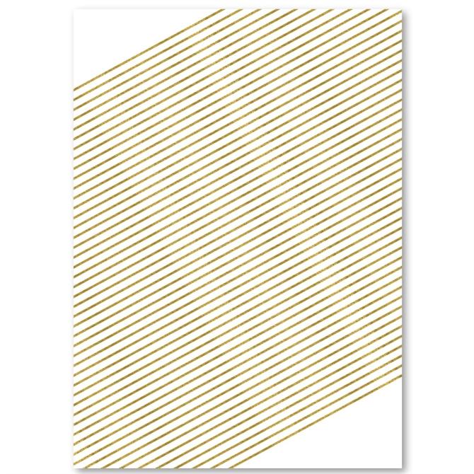Graceful Script Gold Invitations (Premium)