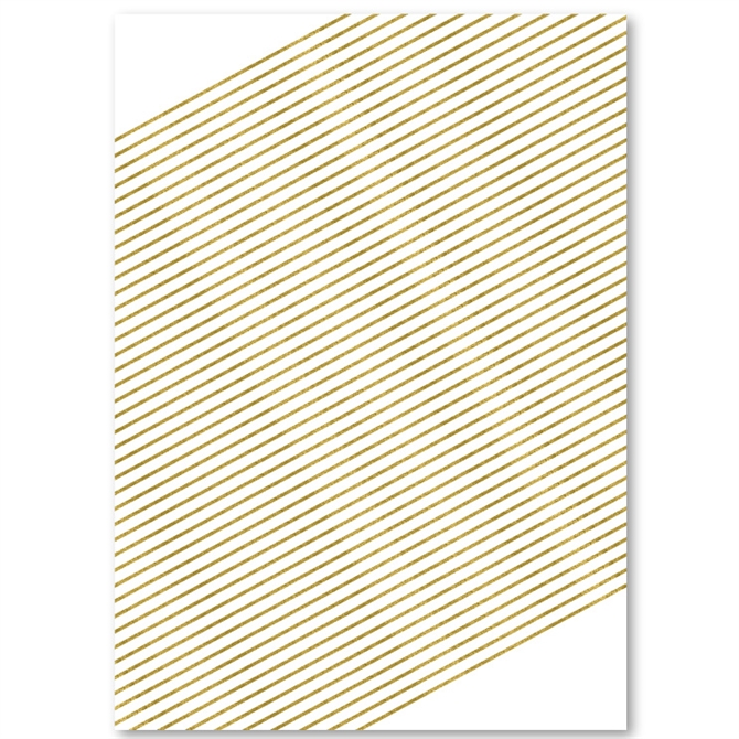 2 Feuilles Mariage Papier Cadeau Crème avec gold script 50X70CM