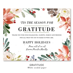 Gratitude Season Business Holiday Cards | seeded paper