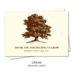 Business Thank you notes to get referrals for advisors | Eternity Tree