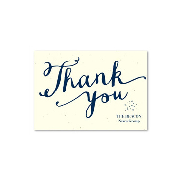 Hand-written Business Thank you cards ~ Heartfelt by Green Business Print