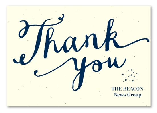Hand-Written Business Thank You Cards On Seeded Paper ~ Heartfelt