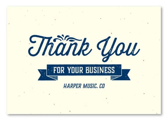 Business Thank You Cards On Seeded Paper House Blend By Green