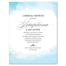 Plantable Bridal Shower Invitations | In the Clouds (watercolor)