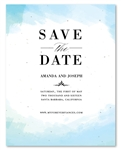 In the Clouds Wedding Save the Date cards