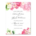 Pink Hydrangea wedding Save the Date Cards | Italian Hydrangea