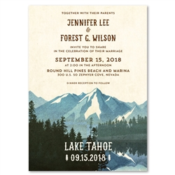 Lake Tahoe Wedding Invitations on premium vintage 100 recycled paper