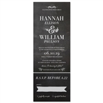 Chalk send and sealed Wedding Invitations | Love board (100% recycled chalkboard paper)