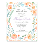 Bridal Shower Invitations pastel flowers