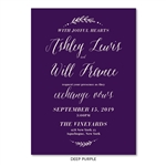 Purple Wedding Invitations | Loving Type