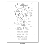 Maine Coast Wedding Save the Date Cards on Seed Paper with Lighthouse and map