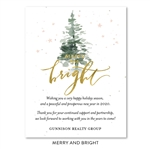 Merry & Bright Business Holiday Cards | seeded paper