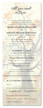 Send n Sealed fall Wedding Invitations | Mighty Fall Tree