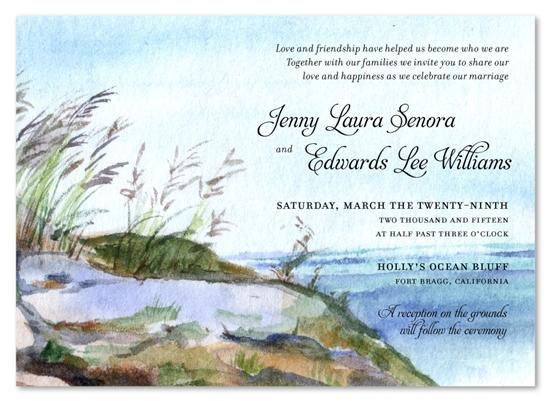 nantucket island wedding invitations with theme