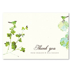 Garden Wedding Thank You Cards | Nature's Glory