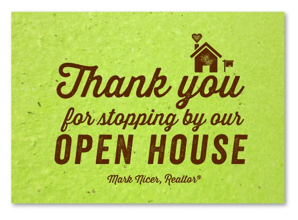 Green Business Thank You Cards  Open House By Green Business Print