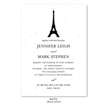 Paris Eiffel Tower Wedding Invitations * white wildflowers seeds paper