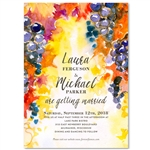 Winery Wedding Invitations | Peach and Grapes