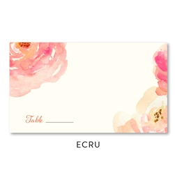 Pink Peony Wedding Place Cards | with peonies blooms