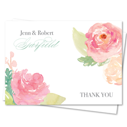 Peony Thank You Notes | Pink peony heaven