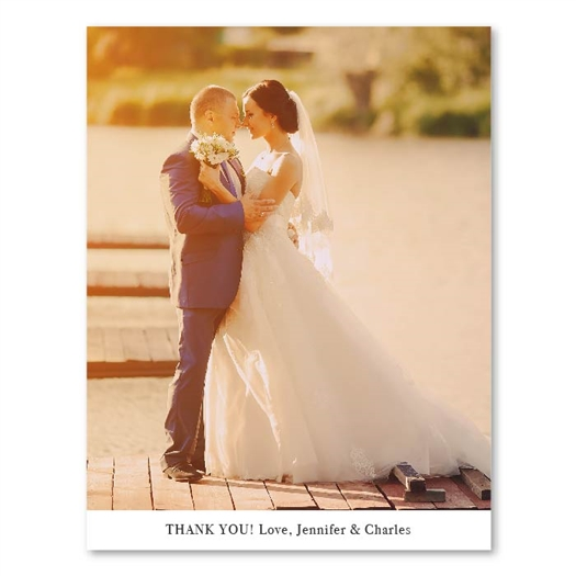 Wedding Photo Thank You Card | Perfect Union (100% recycled paper)