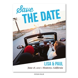 Fun Photo Save the Date for weddings | Road Trip (100% recycled paper)