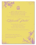 Curry Yellow Baby Shower Invitations ~ Romantic Garden on seeded paper
