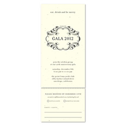 Formal Business Invitations on Cream Seeded Paper ~ Royal & Sophisticated by Green Business Print
