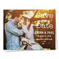 Photo Wedding Save the Date | Rustic Love (100% recycled paper)