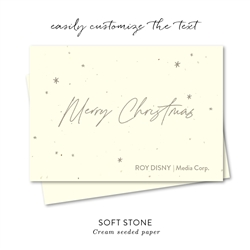 Merry Christmas Handwritten business holiday cards  by Green Business Print