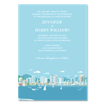 San Diego Skyline Wedding Invitations on Premium 100% recycled paper