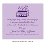 Seeded Paper Wedding Favors deep purple | Seedlings
