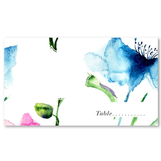 Wildflowers Wedding Place Cards | Spring Joy