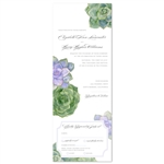 Succulents Wedding Invitations, send and sealed format