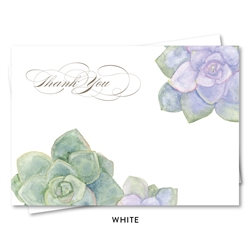 Succulents Wedding Thank you Notes (purple green) by ForeverFiances Weddings