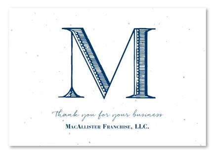 Monogram Business Thank you notes with Tailored Initials
