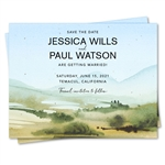 Bright & Happy Wildflowers Save the Date cards with colorful poppies