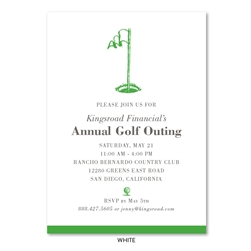 Business Golf Invitations | The Flag