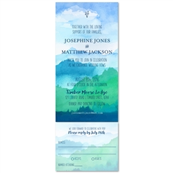 The Peak Mountains Wedding Invitations (100% recycled linen paper)