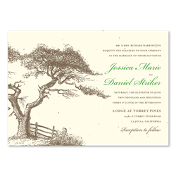 ... Torrey Pines Wedding Invitations | San Diego Weddings